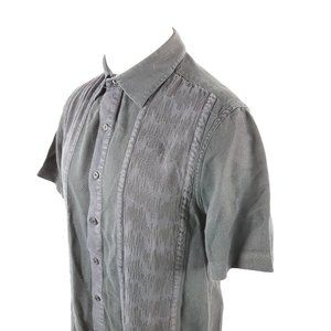 Nat Nast Mens Button Front Camp Shirt Sz Small